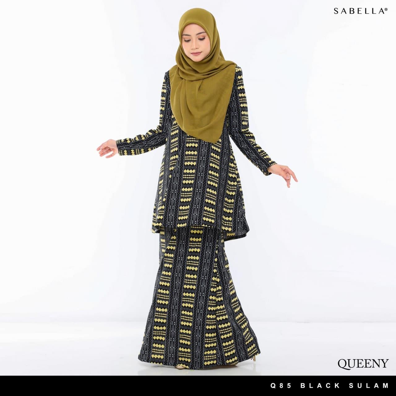 Queeny Eighty Five Black Sulam