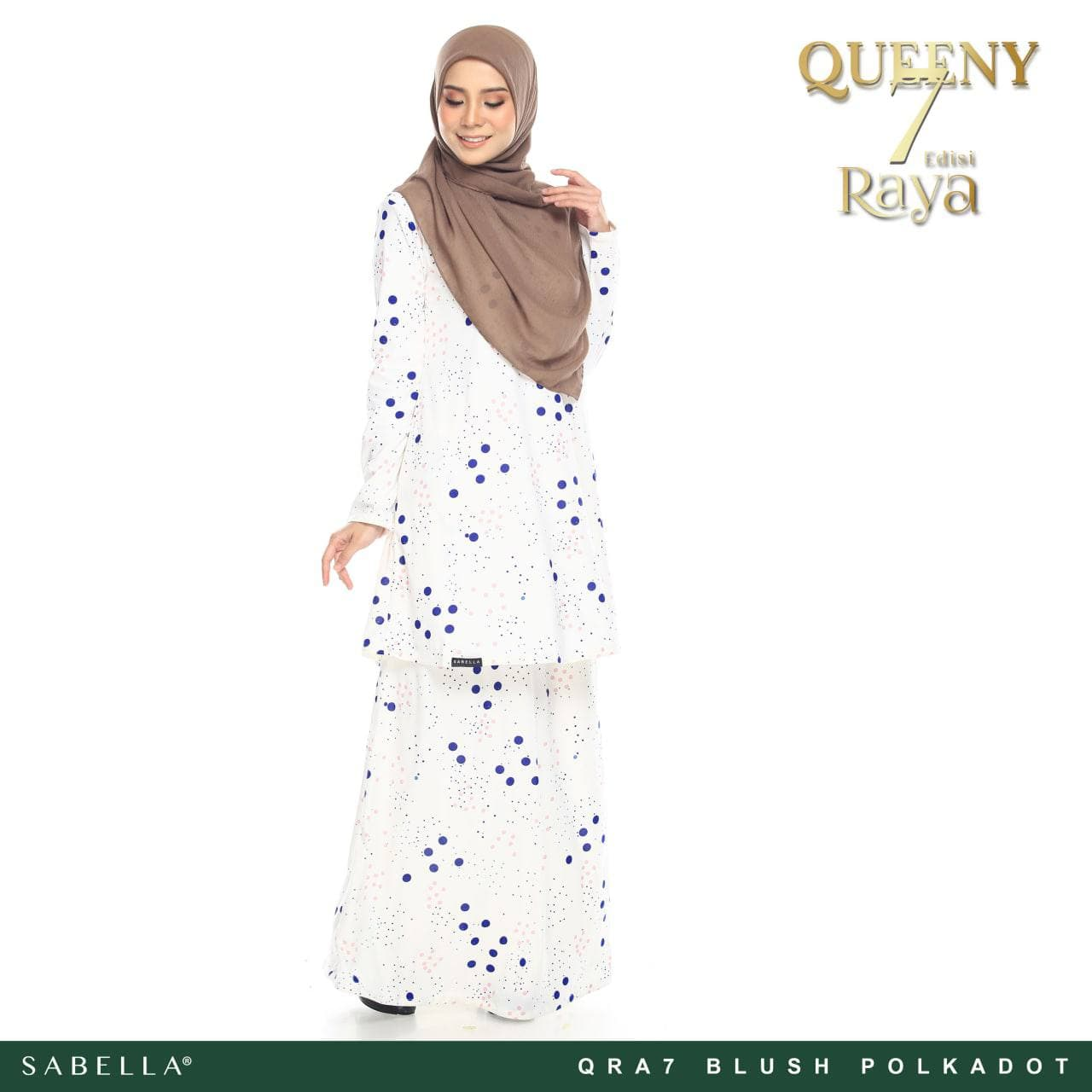 Queeny Raya 7.0 Blush Polkadot