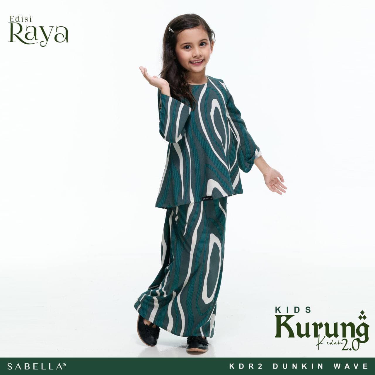 Kurung Kedah Raya 2.0 Kids Dunkin Wave