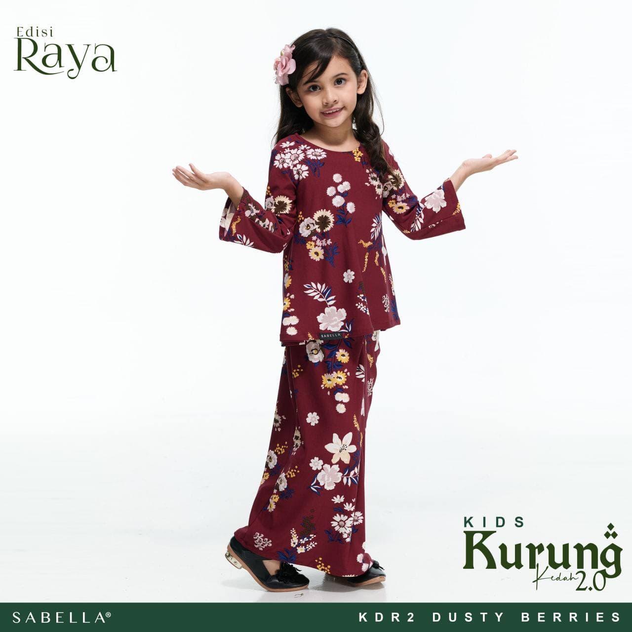 Kurung Kedah Raya 2.0 Kids Dusty Berries