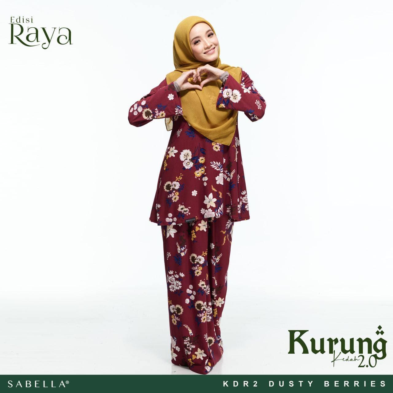 Kurung Kedah Raya 2.0 Dusty Berries