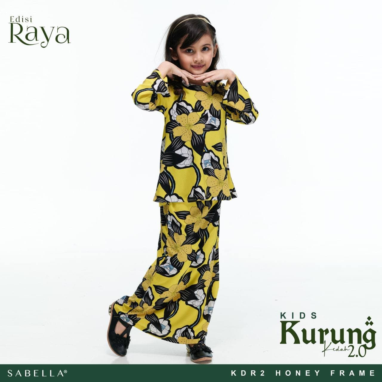 Kurung Kedah Raya 2.0 Kids Honey Frame