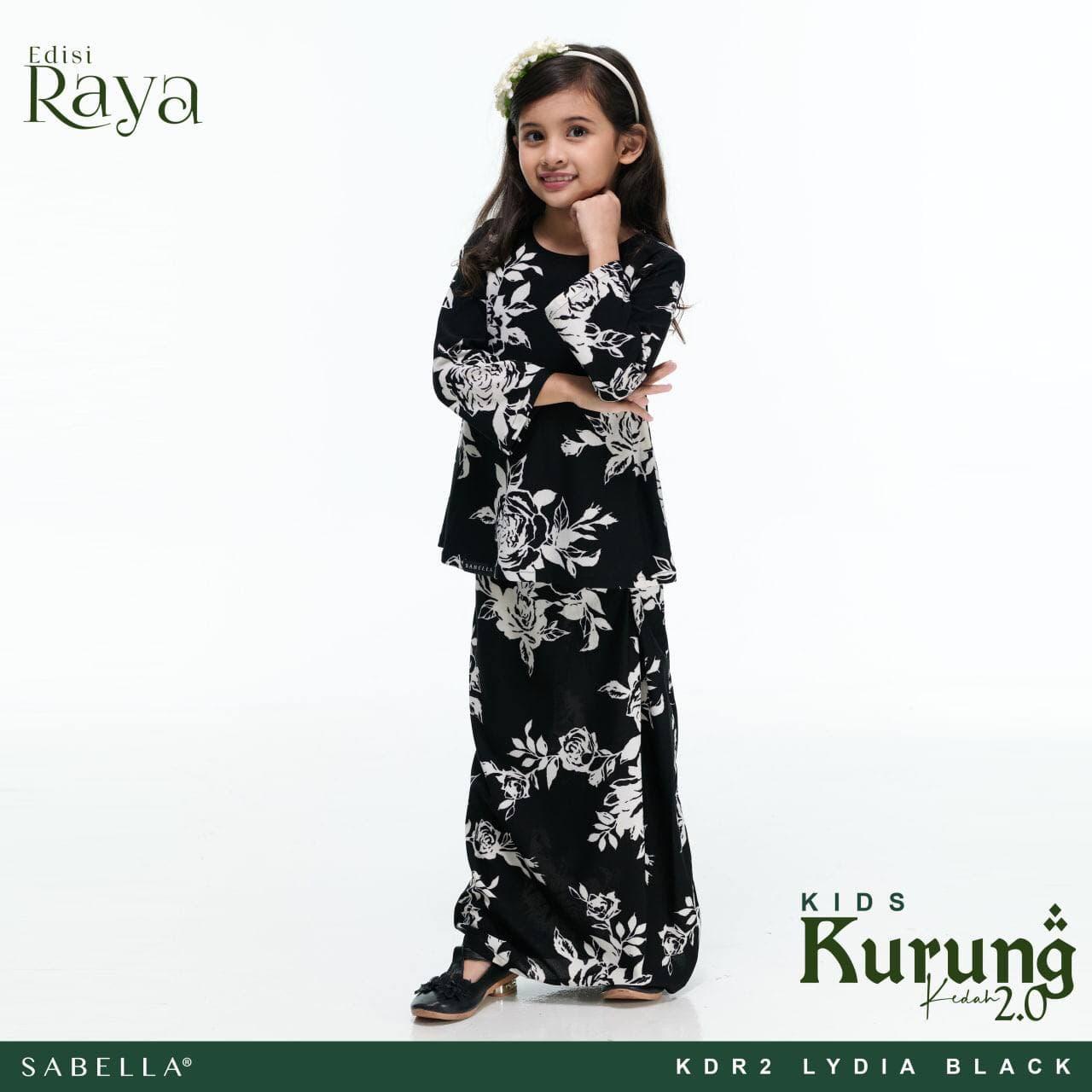 Kurung Kedah Raya 2.0 Kids Lydia Black