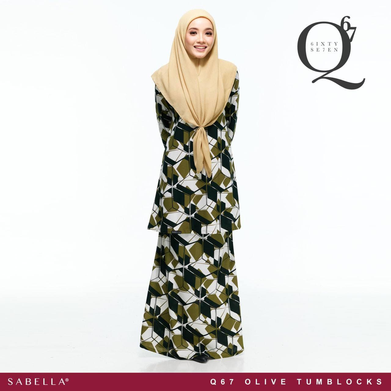 Queeny 67 Olive Tumblocks