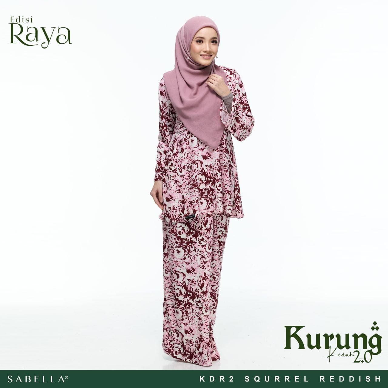 Kurung Kedah Raya 2.0 Squrrel Reddish